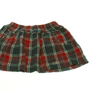 Hollister Plaid Mini Skirt size Small